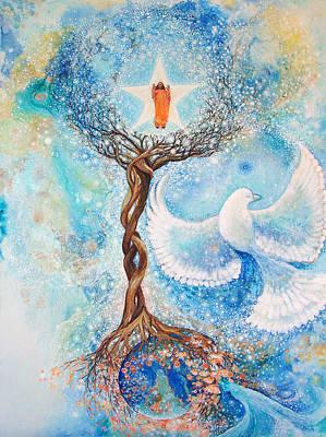 Yogananda Painting - Paramhansa Yogananda - Mist by Ashleigh Dyan Bayer