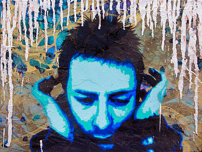 Thom Yorke Painting - Paranoid Android Re-mix by Bobby Zeik