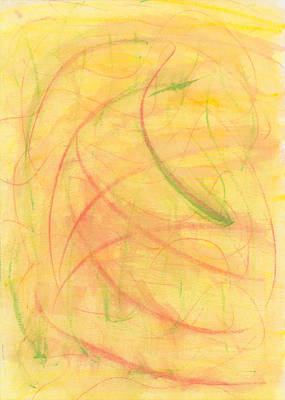 Abstract Movement Drawing - Paranoid In Reverse by Kelly K H B