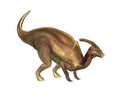 Parasaurolophus Dinosaur Art Print by Friedrich Saurer