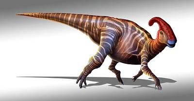 Parasaurolophus Dinosaur Art Print by Mark Garlick