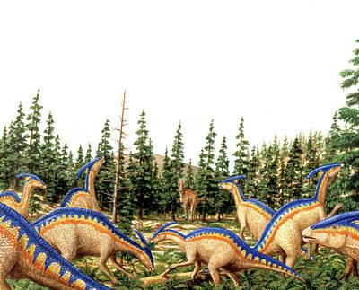 Parasaurolophus Dinosaurs Art Print by Deagostini/uig