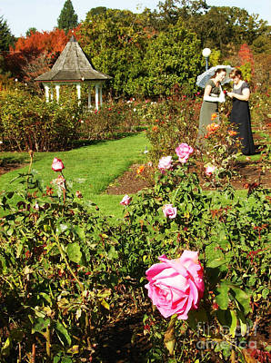 Photograph - Parasol And Pink Rose by Mindy Bench