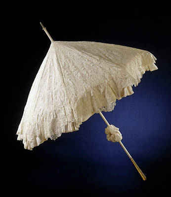 Bruxelles Drawing - Parasol With Deck Of Needle Lace, Point De Gaze De Bruxelles by Quint Lox