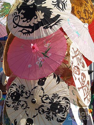 Painting - Parasols  by Robin Maria Pedrero