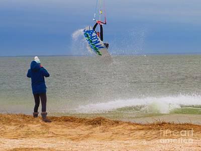 Para Surfing Photograph - Parasurfer1 by Rrrose Pix