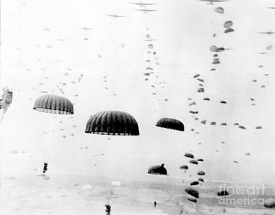 Photograph - Paratroopers, Operation Market Garden by Photo Researchers