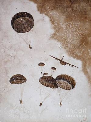 Paratroopers Art Print