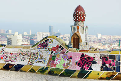 Photograph - Parc Guell. Barcelona. Spain by Nimu1956
