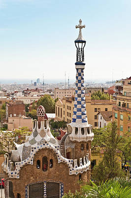 Spain Photograph - Parc Guell By Antoni Gaudi, Barcelona by John Harper