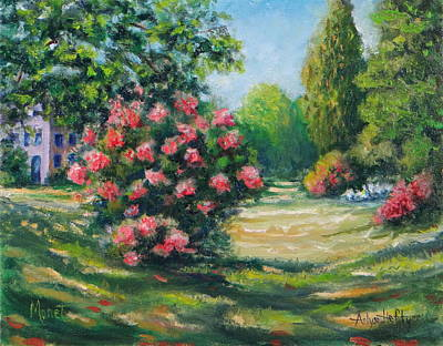 Painting - Parc Monceau Paris Monet Study by Arlys Hefty