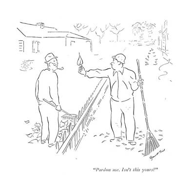 Fence Drawing - Pardon Me. Isn't This Yours? by Garrett Price