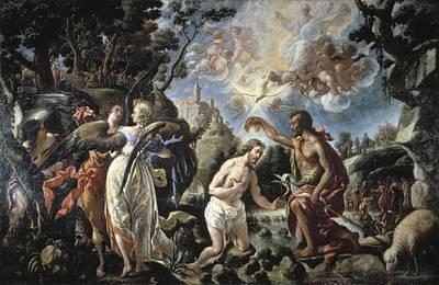 Baptizing Photograph - Pareja, Juan De 1610-1670. The Baptism by Everett