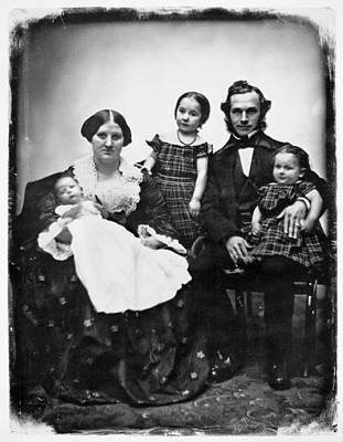 Parents And Children, 1845 Art Print by Granger