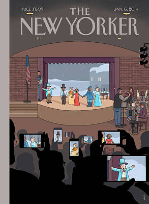 Tablet Painting - Parents Photograph Their Children's Play by Chris Ware