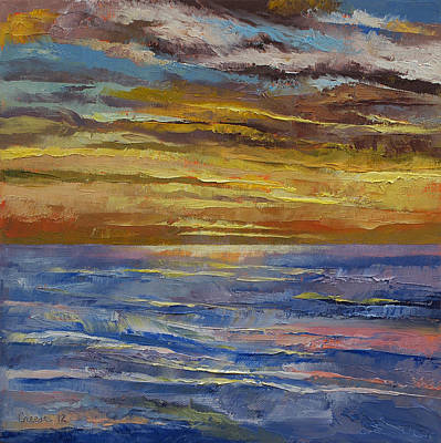 Sunset Abstract Painting - Parfait Sunset by Michael Creese