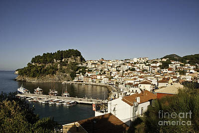 Curated Beach Towels - Parga Town 1 by James Lavott