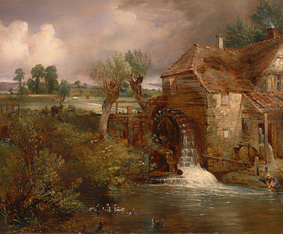 Beautiful Creek Painting - Parham Mill by Mountain Dreams