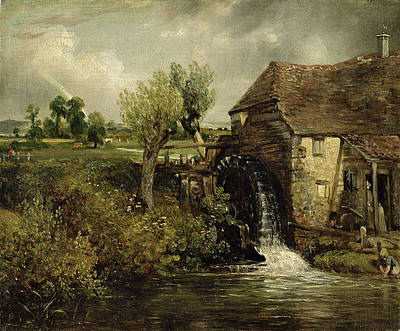 Water Wheel Painting - Parhams Mill, Gillingham, Dorset, 1824 by John Constable