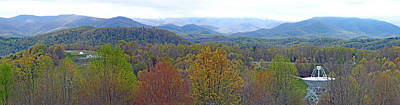 Photograph - Pari And The Blueridge Mountains Panoramic In Western North Carolina by Duane McCullough