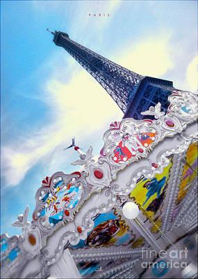 Paris - Caroussel Art Print by ARTSHOT - Photographic Art