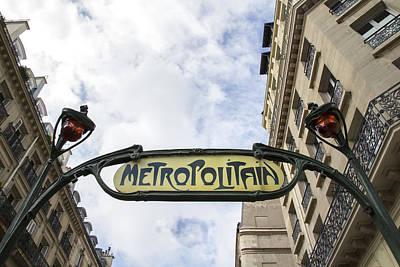 Metro Art Photograph - Paris - Chatelet by Georgia Fowler