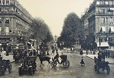 Paris 1900 Boulevard Des Capucines Original