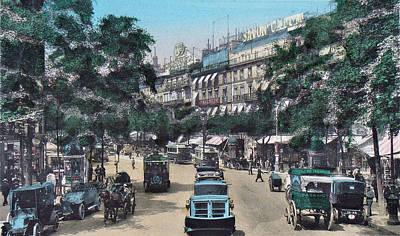 Paris 1910 Boulevard Des Italiens Art Print