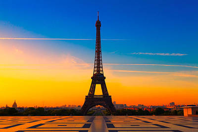 Paris Skyline Royalty-Free and Rights-Managed Images - Paris 22 by Tom Uhlenberg