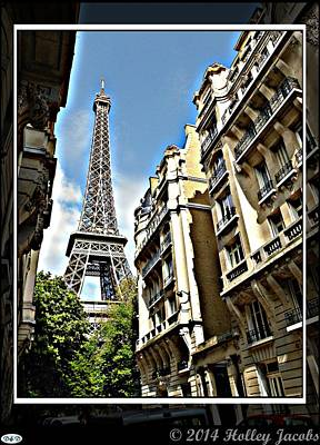 Digital Art - Paris 3 by Holley Jacobs