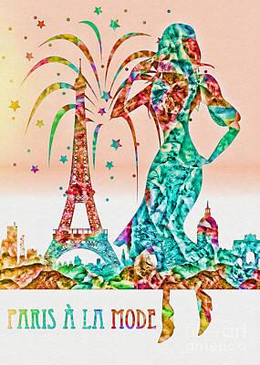 Mixed Media - Paris A La Mode by Olga Hamilton