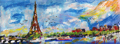 Painting - Paris A New Day by Ginette Callaway