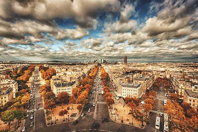 Photograph - Paris Aerial View Of La Defense by Franckreporter