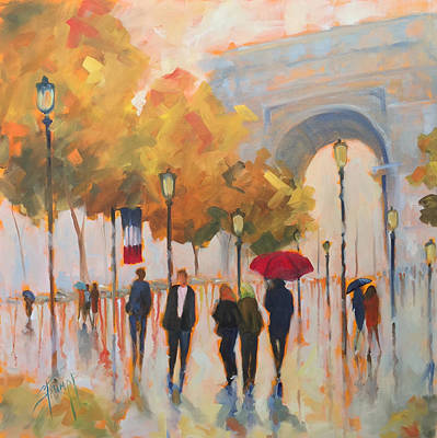 Champs Elysees Painting - Paris Always A Good Idea by Gina Strumpf
