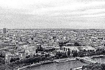 Photograph - Paris And The Seine In Ink by Elvis Vaughn