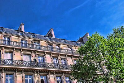 Photograph - Paris Apartments 1 by Allen Beatty