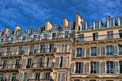 Photograph - Paris Apartments 2 by Allen Beatty