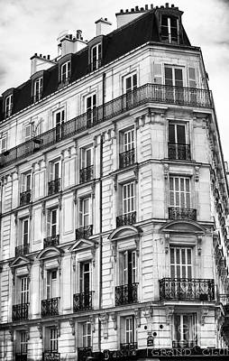 Of Artist Photograph - Paris Architecture I by John Rizzuto