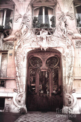 Photograph - Paris Art Deco Doors - Paris Art Nouveau Doors And Paris Ornate Door Architecture by Kathy Fornal