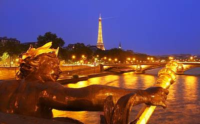 Paris At Night Art Print by Dan Breckwoldt