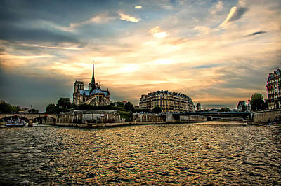 Photograph - Paris At Sunset by Bill Howard