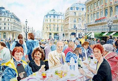 Bastille Day Celebration Painting - Paris Bastille Day 2000 The Incredible Picnic by Patrick DuMouchel