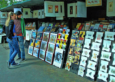 Photograph - Paris Book Stall by Allen Beatty