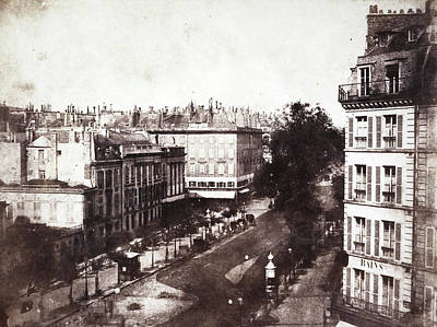 1843 Photograph - Paris Boulevard by British Library