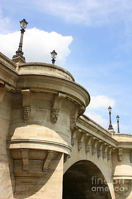 Photograph - Paris Bridge Perspective by Carol Groenen