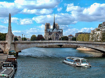 Liberte Photograph - Paris Bridges by Paris  France