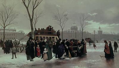 Paris Bus Accident Art Print by Alphonse Cornet