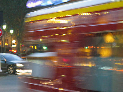 Near Death Experience Photograph - Paris Bus Pont Au Change  Or One Half Step Away From The Hereafter by Joe Schofield
