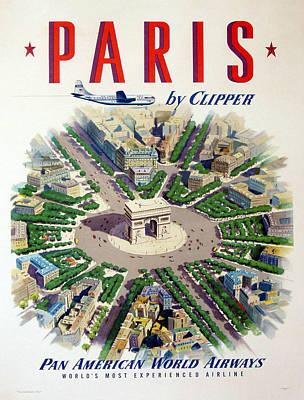 French Street Scene Digital Art - Paris By Clipper by Georgia Fowler