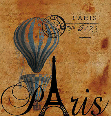 Photograph - Paris By Postcard by Greg Sharpe
